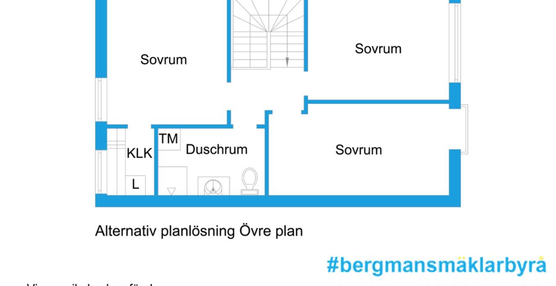 Alternativ planritning - Övervåning