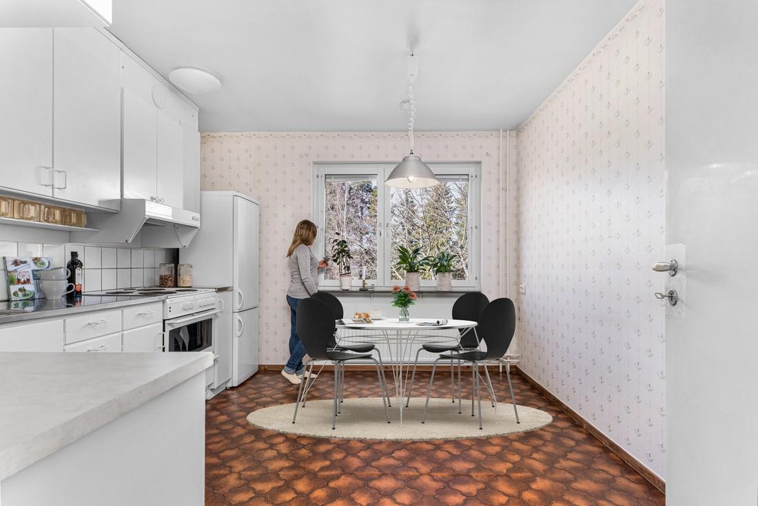 Digitalt stylad - plats  för stort matbord...