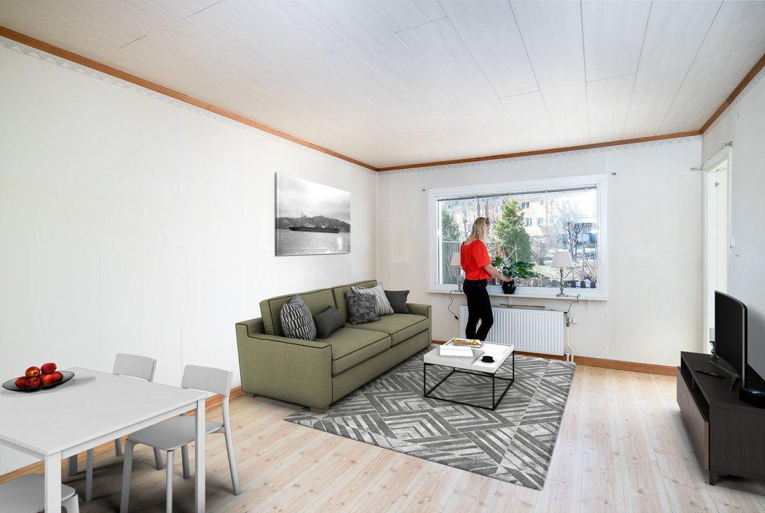Digitalt stylat med möjlig möblering...