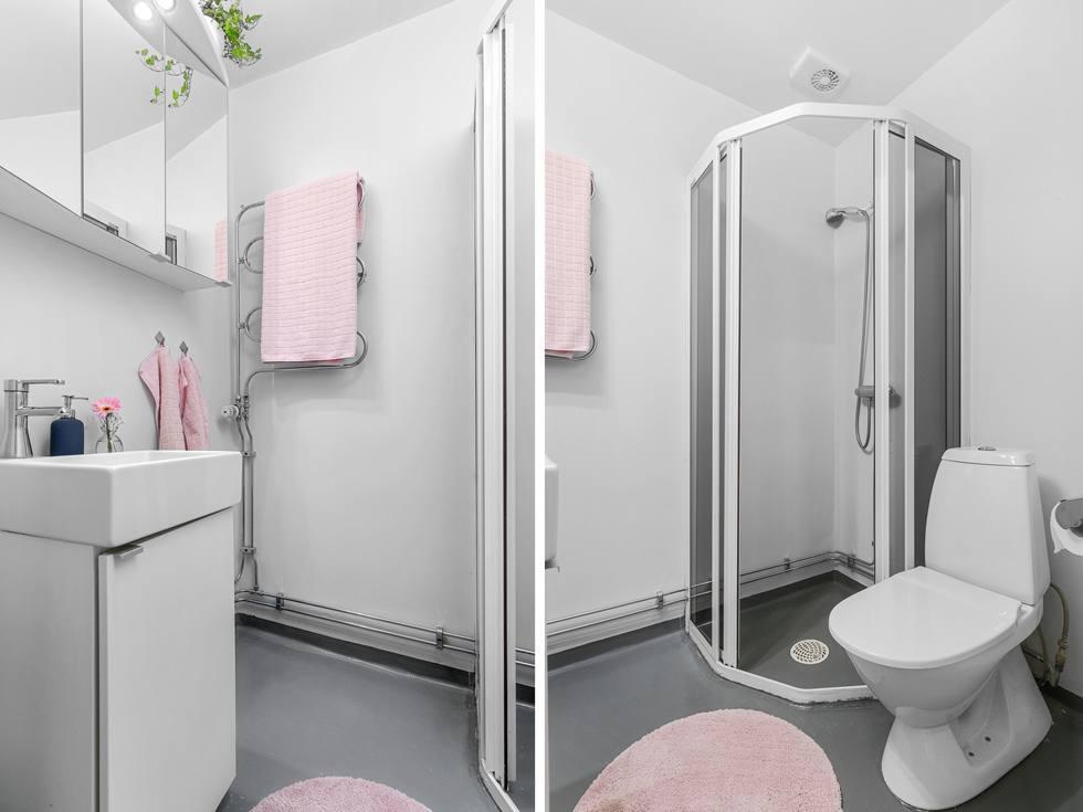 Nytt spegelskåp och kommod...