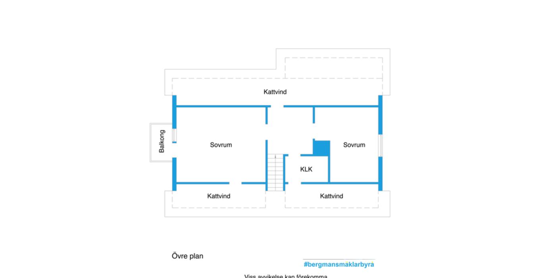 Planritning - Övre plan