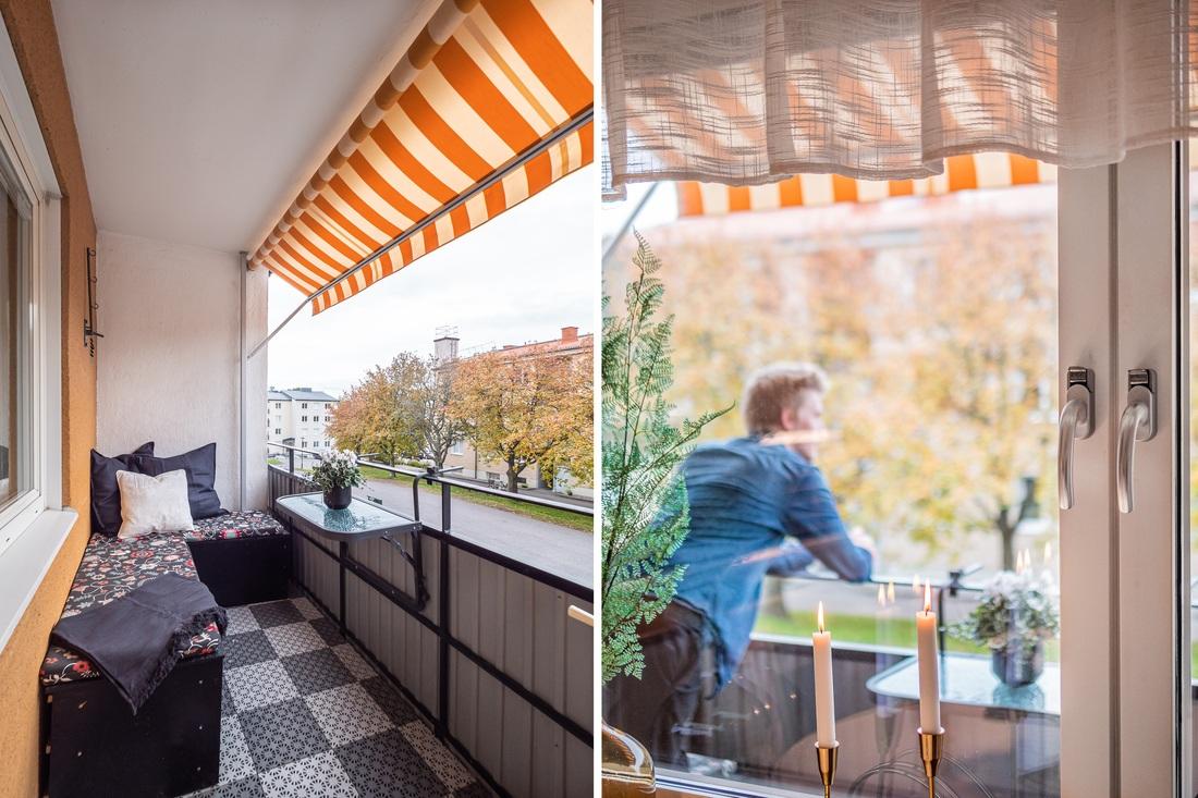 Balkong i söderläge med markis -15 samt nya fönster