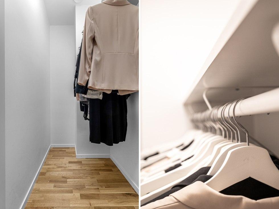 Praktisk klädkammare
