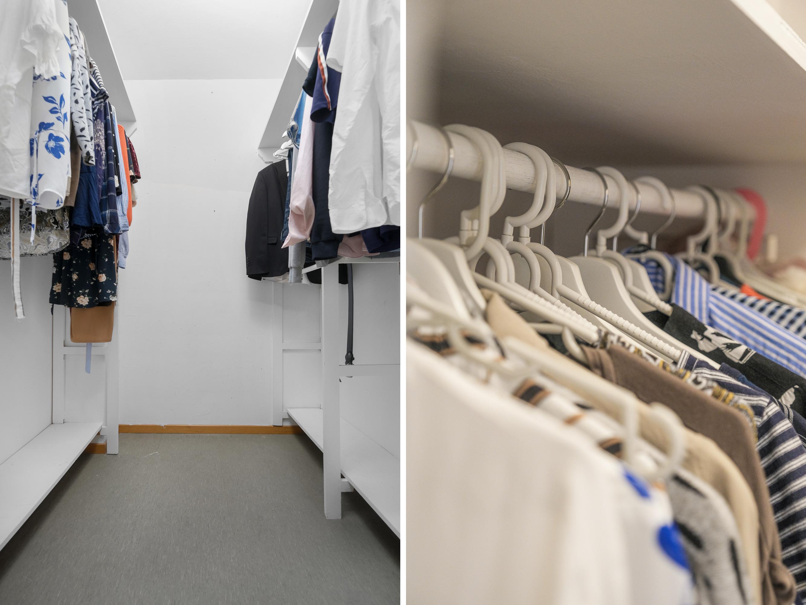 Generös klädkammare